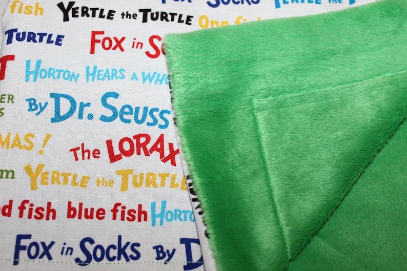 Seuss Favorites Minky Blanket--Dr