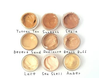 SAMPLE - Vegan Liquid Mineral Foundation Serum - Multi Fruits, Multi Botanical Extracts Base. Available in 9 Skin Tone Shades