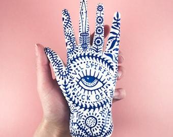 Custom Standing Hand Ring Holder