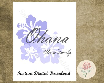 Hawaiian sayings etsy ohana 8x10 instant download children home decor wall artsayings quotes digital file m4hsunfo