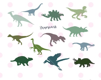 Dinosaur SVG, Dinosaur Sticker, Dinosaur Clipart, Dinosaur Decal, Dinosaur Birthday, Svg files for Cricut, Dinosaur DXF, Silhouette Cameo.