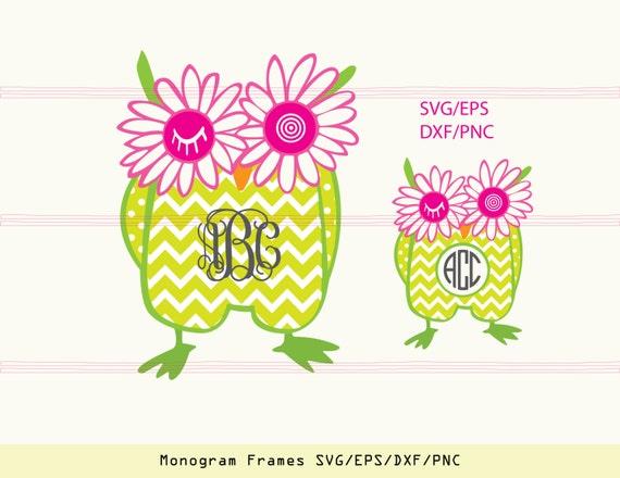 Owl SVG owl monogram svg owl clipart owl wall decor owl   Etsy
