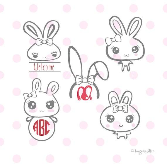 Rabbit Svg Rabbit Clipart Rabbit Decal Rabbit Stickers