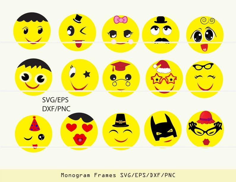 Emoji SVG, emoji decal, emoji clipart, emoji party, svg files for cricut  INSTANT DOWNLOAD - Royalty Free, Commercial Use, Business Use