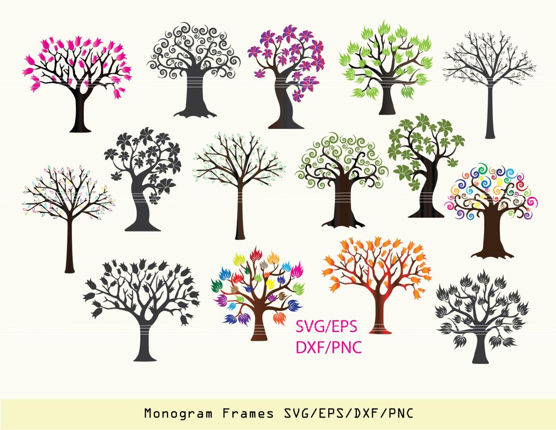 Tree SVG tree sticker tree clipart tree vinyl decal svg | Etsy