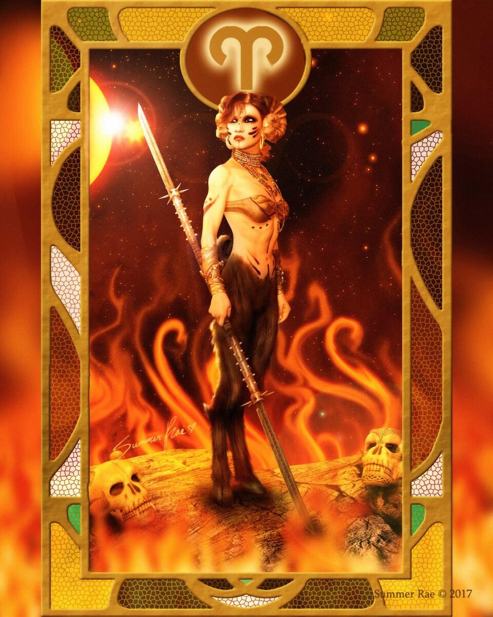 Zodiac Astrology Art Home Decor Aries By