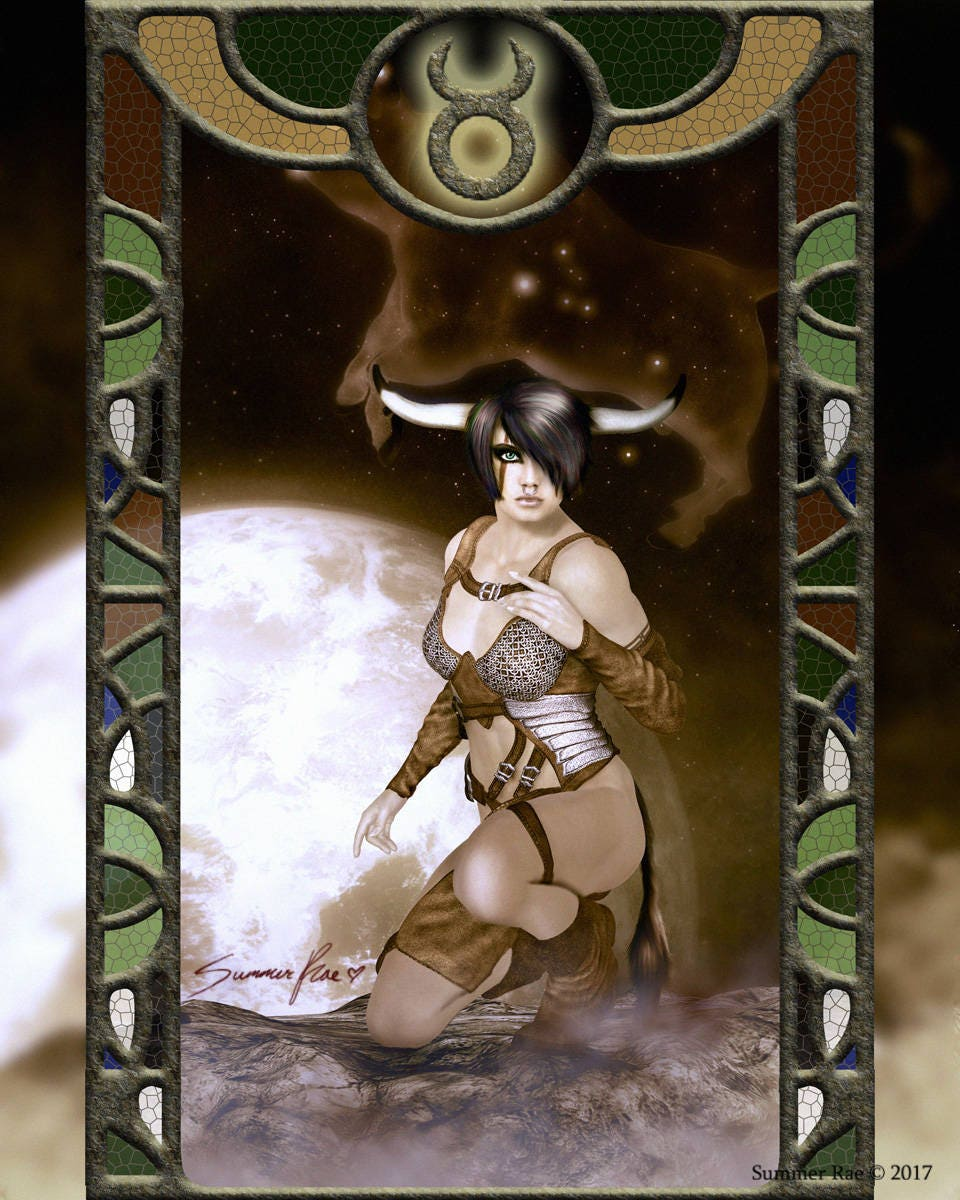 Zodiac Astrology Art Print Home Decor Taurus