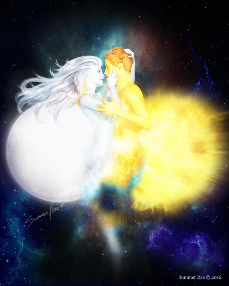 Romantic Art Sun And Moon Valentine s Day Love Art  b0593cc0f