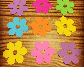 Flower Cut Outs (Various Sizes and Colors Available)