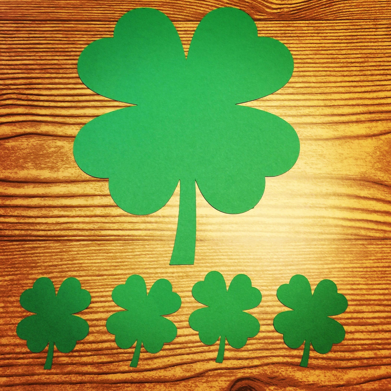 Patricks Day Decoration St 50 Pieces Four Leaf Clover Die Cut Confetti
