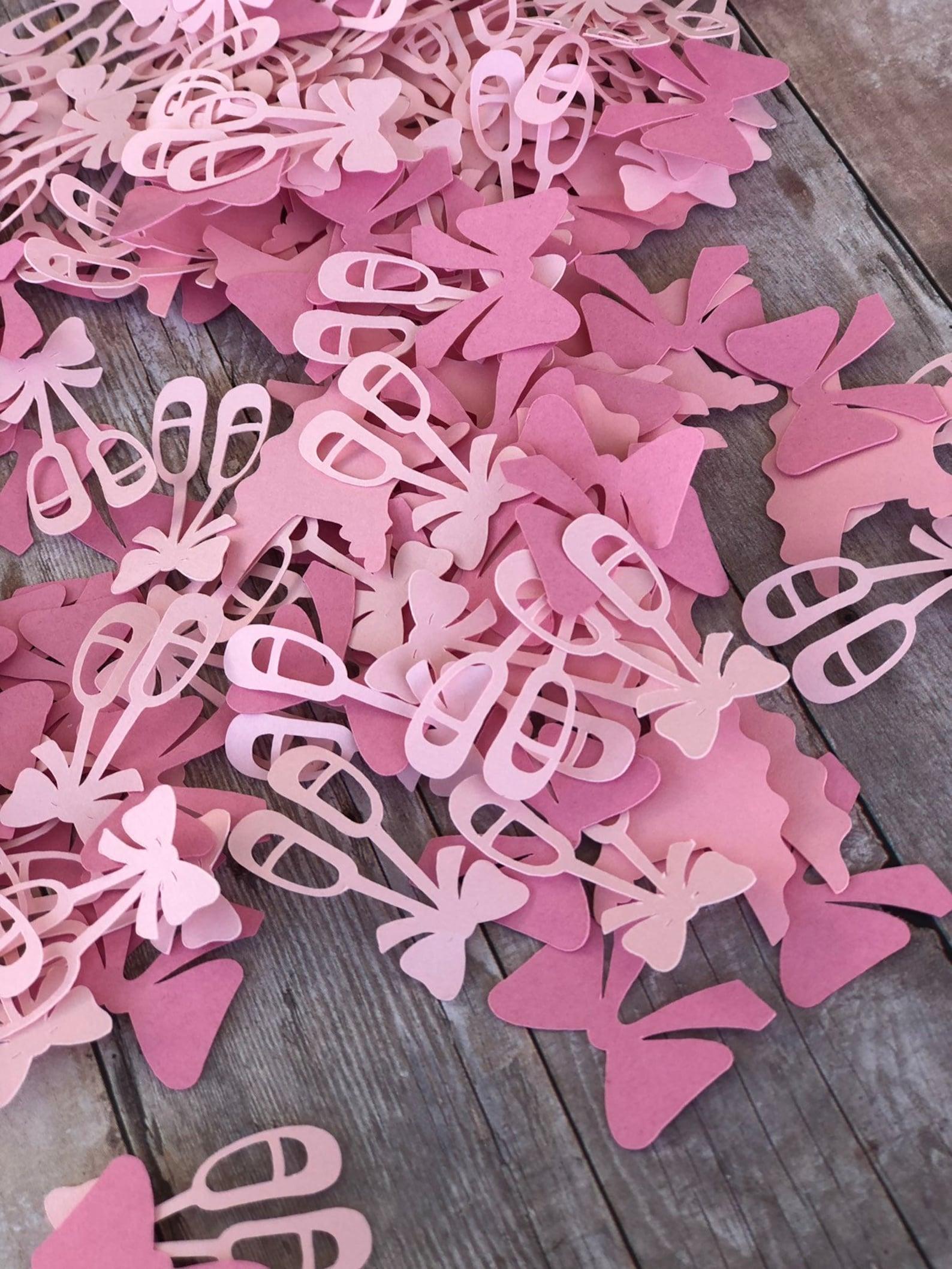 tutus confetti; ballerina confetti; ballerina birthday party; dance party; ballerina table decor; pink tutu; ballet shoe confett