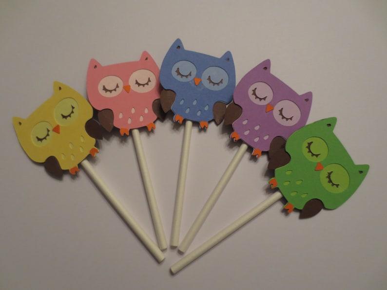 Peachy Owl Cupcake Toppers Owl First Birthday Owl Baby Shower Owl Etsy Funny Birthday Cards Online Hendilapandamsfinfo
