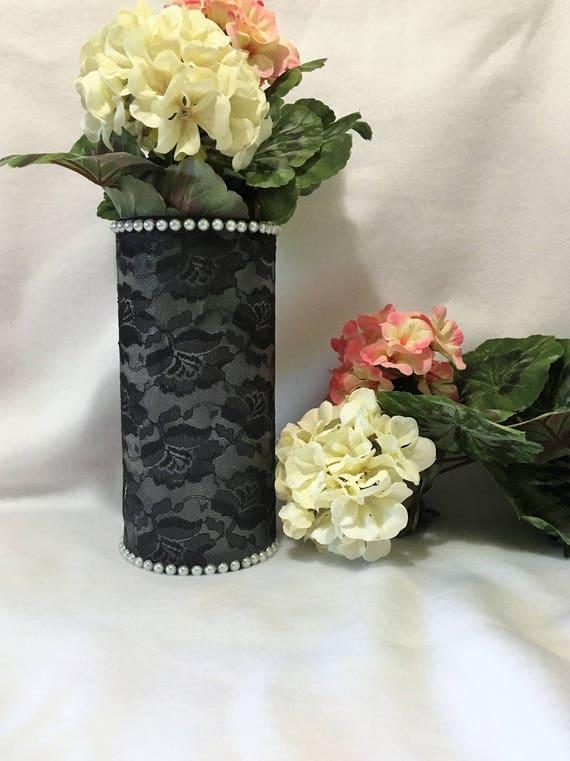 Lace Wedding Decor Wedding Decor Vase Wedding Candle Etsy