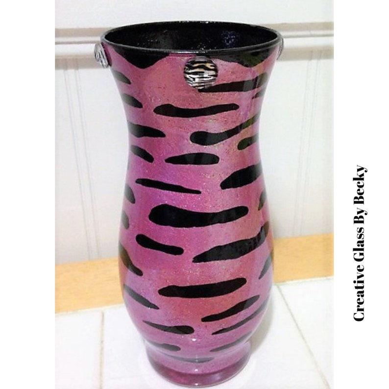 Marvelous Zebra Print Girls Room Decor Animal Print Decor Hand Painted Vase Zebra Decor Pink Zebra Decorations Interior Design Ideas Clesiryabchikinfo