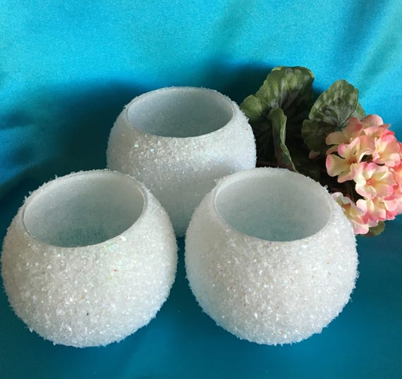 Set Of 3 White Wedding Centerpiece Wedding Candle Holder Etsy