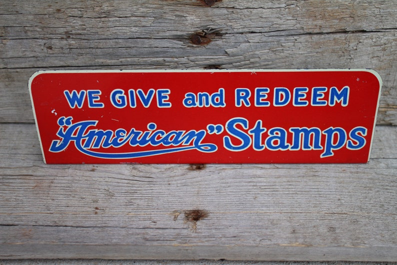 Metal Store Countertop Display Sign We Give And Redeem