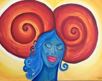 Aries Acrylic Painting