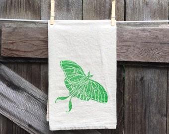 Luna Moth ,Flour Sack Tea Towel, single print