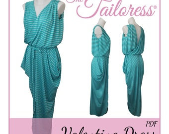 84f371dbc0955e Valentina Dress PDF Sewing Pattern Dresses PDF Pattern Sewing Patterns  Women Pdf Dress Pattern Draped Dress Pdf Summer Dress Pdf Cowls