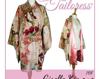 1bc5427a21 SHORT Kimono Robe PDF Sewing Pattern Kimono PDF Robe Sewing Patterns Geisha  Gown Geisha Robe Sewing Pattern Oriental Dressing Gown Pdf