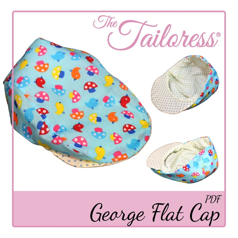 44aee8d825 CHILD George Flat Cap PDF Sewing Pattern Hat Pdf Sewing