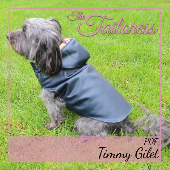 Dog Jacket Size 7 Gilet Pdf Sewing Pattern Digital Download Etsy