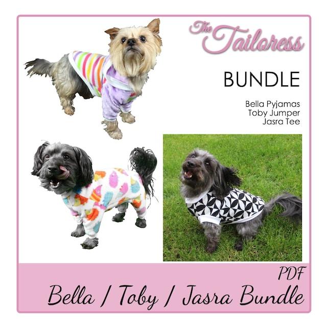 Size 4 Bundle Pdf Sewing Pattern Dog Tee Dog Jumper Dog Pyjama Etsy