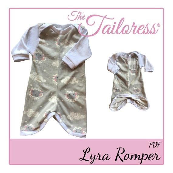 Ähnliche Artikel wie Lyra Romper PDF Nähen Muster Preemie Pdf Nähen ...