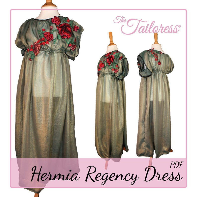 d2fb45f77 Ages 7-14 Hermia Pdf Sewing Patterns Regency Dress Sewing   Etsy