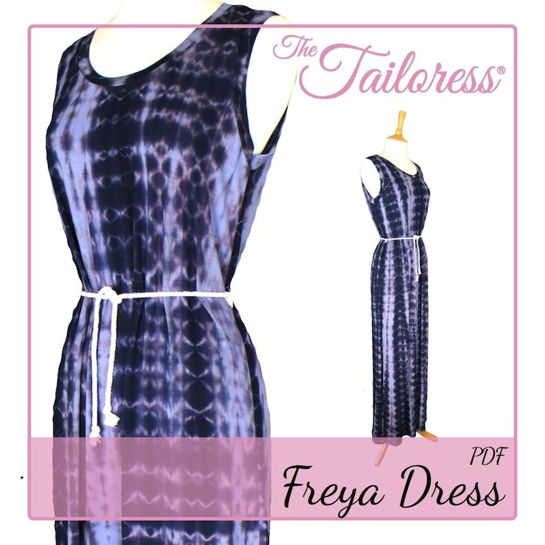 1129ecf487d5 Freya Abito cartamodello Pdf per donne modello abito abito