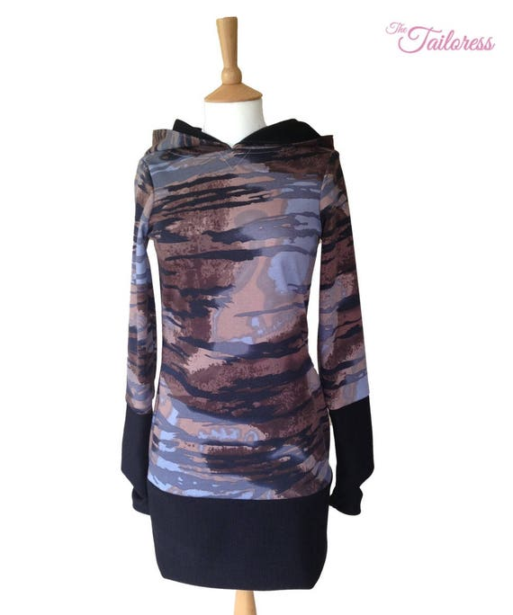 881a1a45781858 Hooded Jumper Dress PDF Sewing Pattern Hooded Jumper Pattern