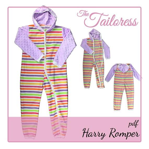 Harry Adaptive Clothing PDF Romper PDF Sewing Pattern 3-8