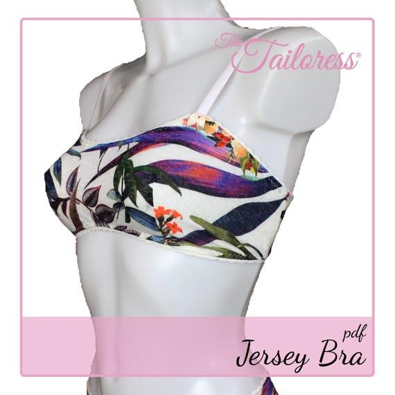 Jersey-BH PDF Muster Pdf Nähen Schnittmuster für Frauen Pdf | Etsy