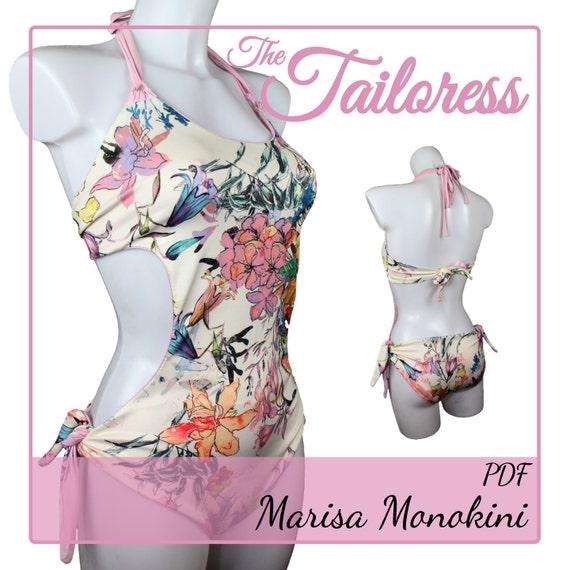 Marisa Monokini PDF Sewing Pattern Monokini Pdf Sewing   Etsy