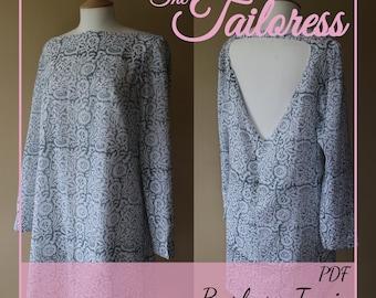 Barbara Tunic Dress PDF Sewing Pattern Tunic Pdf Pattern Dress Sewing Pattern Dress Pdf Pattern Tunic Sewing Pattern Dress for Women Pdf
