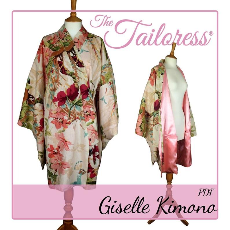 5430af5fcc7 KORTE Kimono badjas PDF naaien patroon Kimono PDF Robe naaien image 0 ...