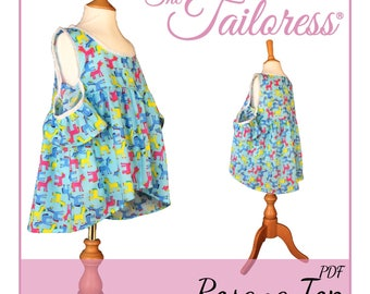 Rosana Teenager PDF Sewing Pattern Girls 1-14 Sewing Patterns Top Sewing Pattern Sewing Patterns Frilly Top Tween PDF Pattern Girls Patterns