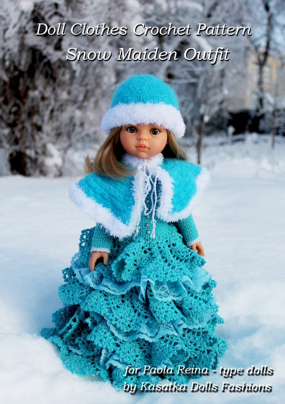 9d86f33c5 PDF Doll Clothes Crochet Pattern Snow Maiden Outfit for Paola
