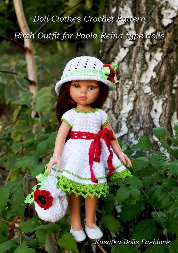 Pdf Doll Clothes Crochet Pattern Birch Outfit For Paola Etsy