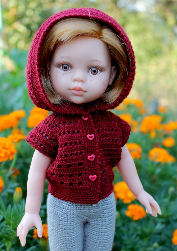 PDF Doll Clothes Crochet Pattern Sea Walk Outfit for Paola Reina-type dolls By Kasatka dolls fashion