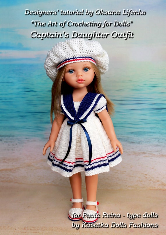 Pdf Doll Clothes Crochet Pattern Captains Daughter Outfit For Etsy