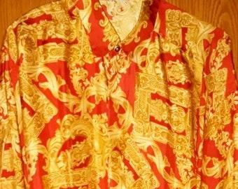 fb701a70 Versace - Gianni Versace flawless baroque silk shirt M L