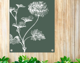 Garden poster Vintage Flower-50 x 70 cm with rings