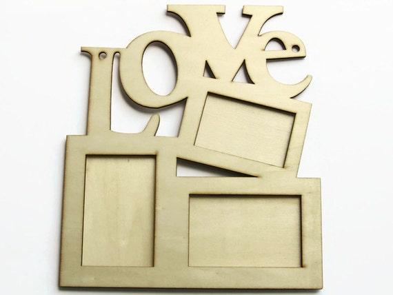 Amor DIY cuadro marco - fuentes de madera del marco - madera ...