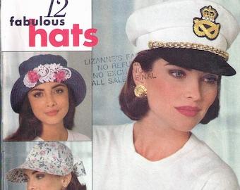 Vintage McCall Misses/'s Girl/'s Millinery néerlandais Chapeau Tissu sewing pattern # 1071