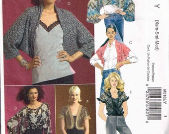Size 4-14 Misses' Shrug Sewing Pattern - Cocoon Shrug Pattern - Bolero Jacket Pattern - Cropped Top Pattern - McCalls M5182