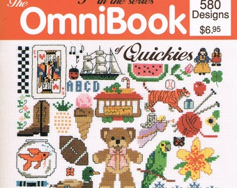 Cross Stitch Miniatures - Vintage Cross Stitch - Ominbook of Quickies - Jeanette Crews 805