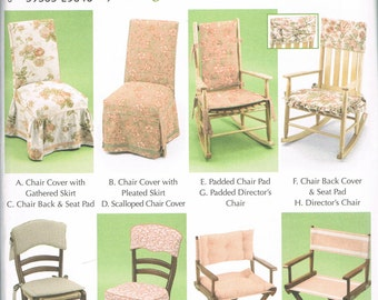 Chair Cover Sewing Pattern   Chair Pad   Directors Chair Pattern   Wooden  Chair Slip Cover   Rocking Chair Pads   Simplicity 5952