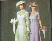 Size 6-12 Misses 39 Edwardian Gibson Girl Dress Hat Sewing Pattern - Halloween Costume - Simplicity 9716