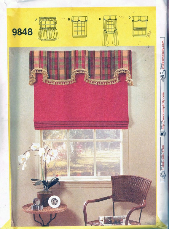 Drapes Sewing Pattern - Valance, Jabbot & Cafe Curtains Patterns ...